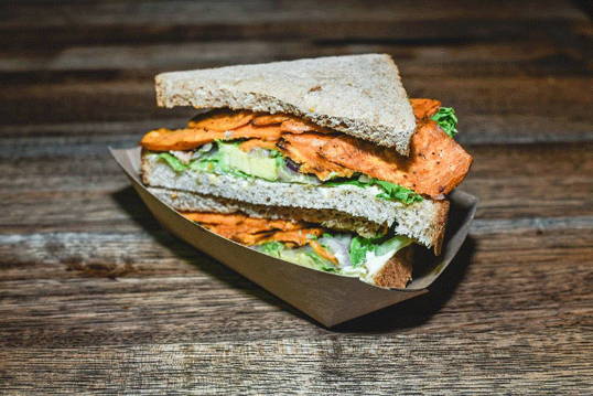 Chipotle Sweet Potato and Avocado Sandwich